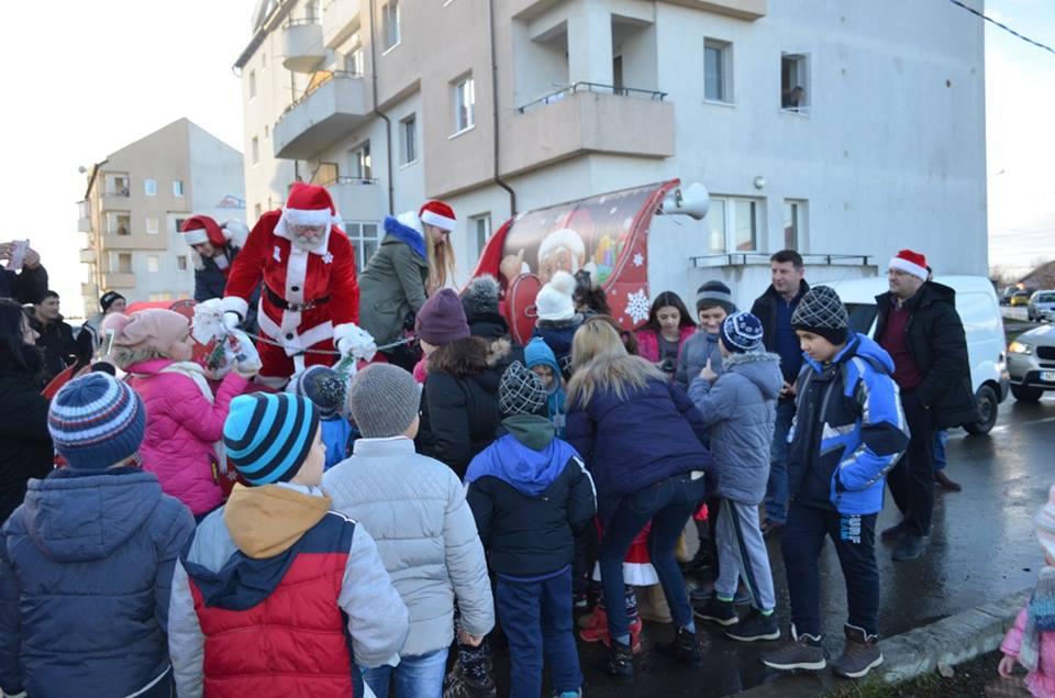 Traseul caleștii lui Moș Crăciun la Roman, pe 24 decembrie