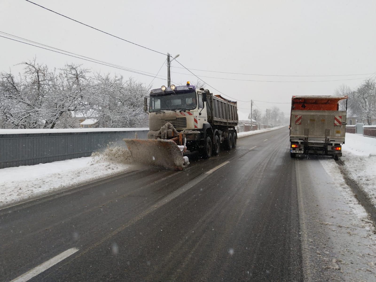 Ninsori pe arii extinse și condiții de formare a poleiului pe drumurile din Moldova