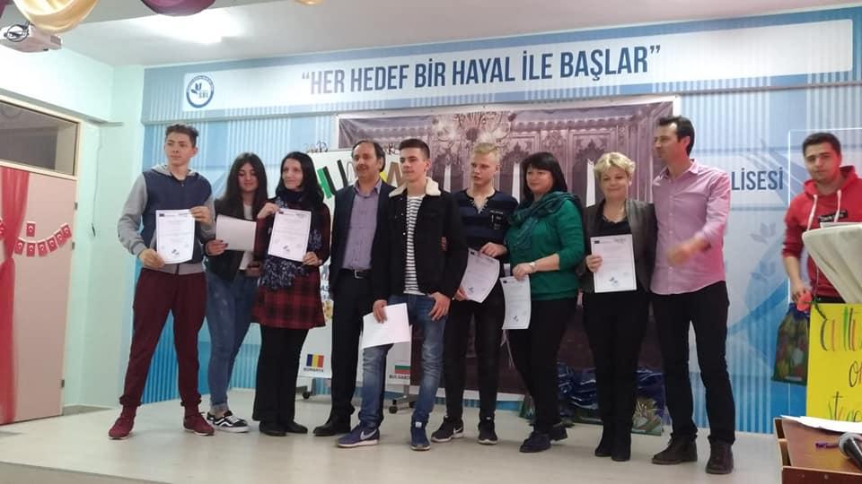 """Elevii și profesorii Colegiului Tehnic """"Danubiana"""" au studiat cultura Turciei, în cadrul proiectului """"Culture on the stage"""""""