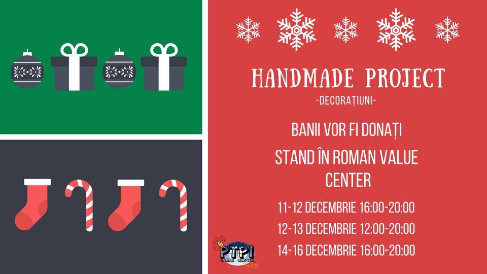 """Voluntarii PTPI Roman strâng de Crăciun bani pentru salvarea vieții unui copil. """"Handmade Project – O șansă cât o mie…"""""""