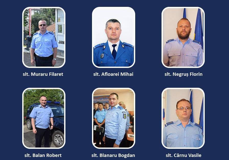 Șase subofiţeri ai Jandarmeriei Neamţ au trecut în corpul ofiţerilor