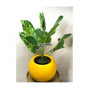 Oval Yellow Half Egg Shaped Flower Pot