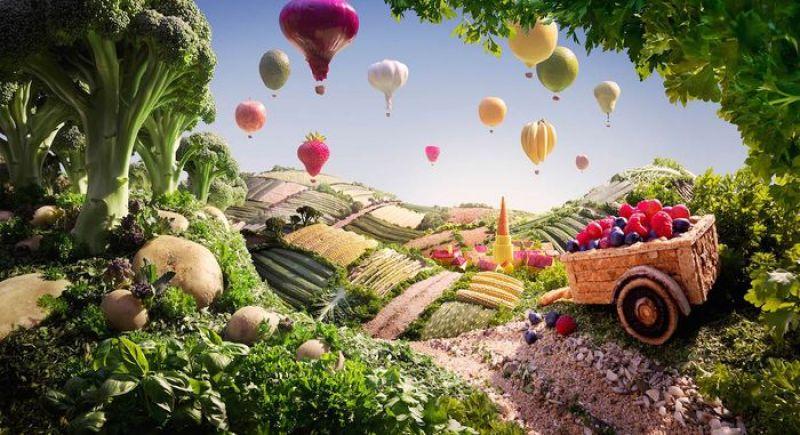 Gli incredibili paesaggi fatti col cibo di Carl Warner