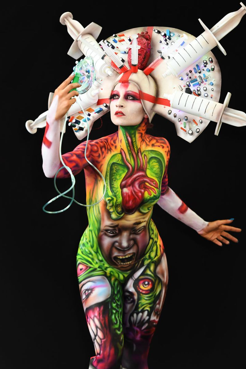 L'incredibile creatività degli artisti al World Bodypainting Festival 2018
