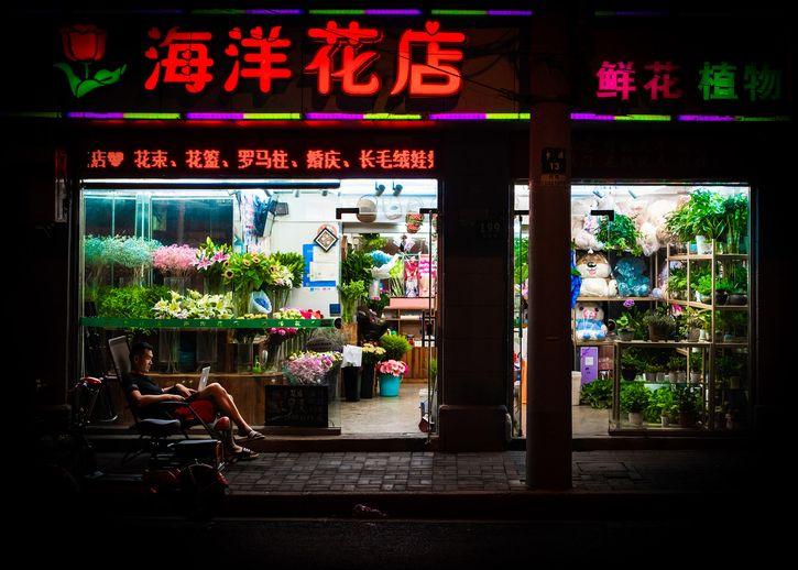 I venditori notturni di Shanghai