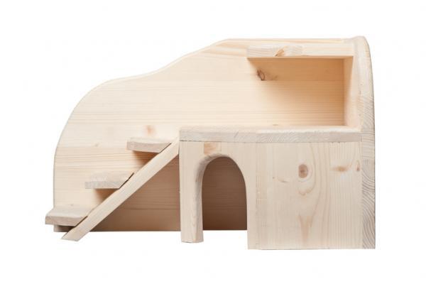 Rifugio per criceto in legno su due livelli