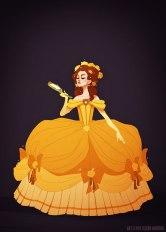 Belle porte une robe de 1770