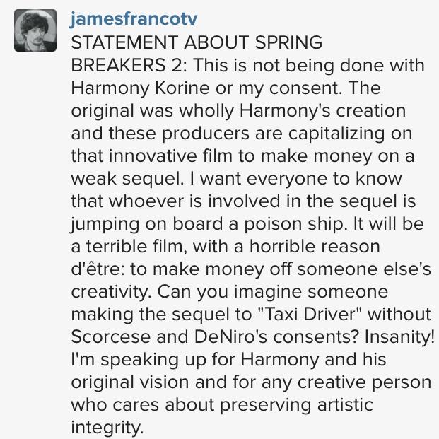 james_franco twitter spring breakers 2