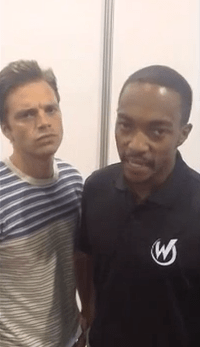 Anthony Mackie et Sebastian Stan als bucket