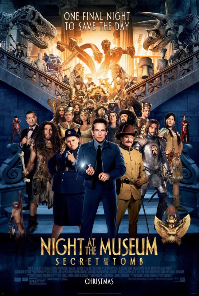 night at museum 3 new poster