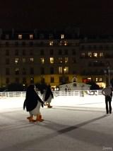 Pingouins de Madagascar patinoire de Paris9