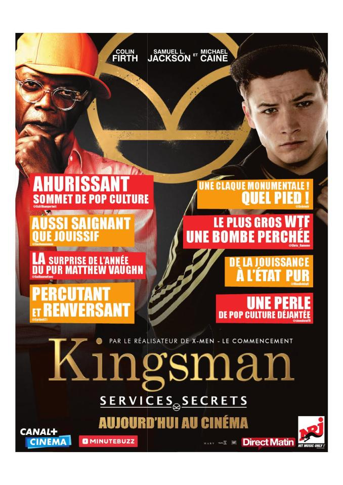 Kingsman dans direct Matin Zickma