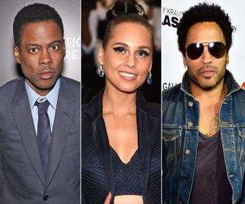 Chris Rock, Alicia Keys et Lenny Kravitz