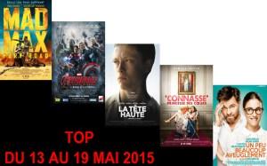 TOP 13 AU 19 MAI