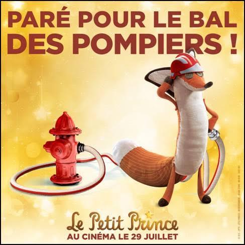 le Petit Prince-Affiche Bal des Pompiers