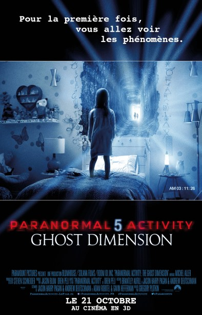 PARANORMAL ACTIVITY 5 GHOST DIMENSION - l'affiche