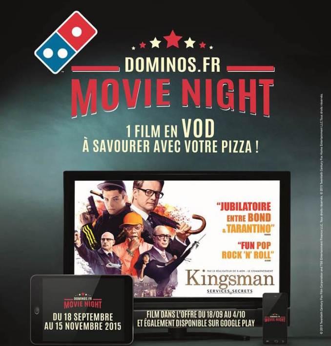 Domino's - Menu Movie Night