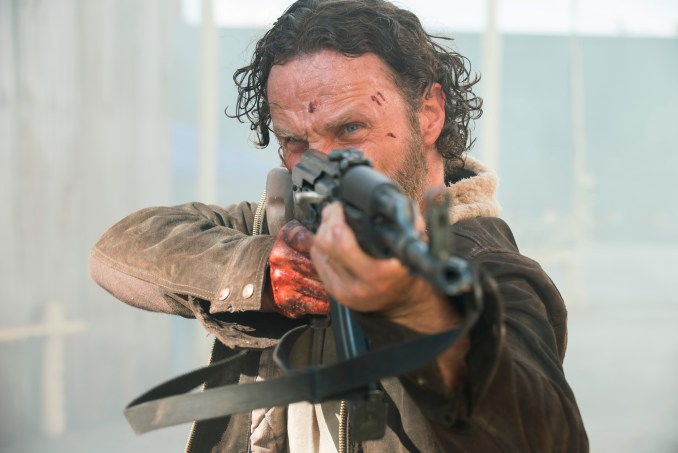 Andrew Lincoln as Rick Grimes - The Walking Dead _ Season 5, Episode 1 - Photo Credit: Gene Page/AMC