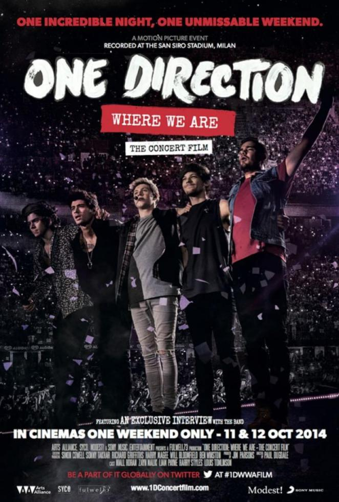 One Direction Where We Are - The Concert Film poster