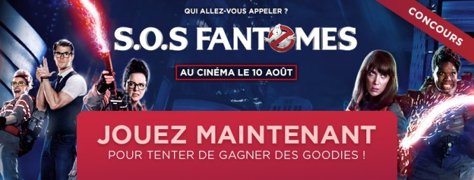 Ghostbusters Goodies concours
