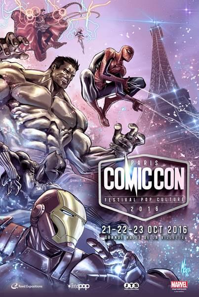 Comic Con Paris 2016 nouvelle affiche