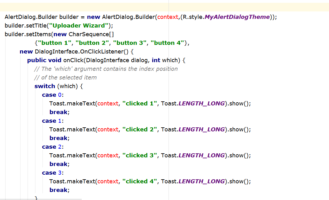 How to Fix cannot resolve symbol 'context' in Java Android