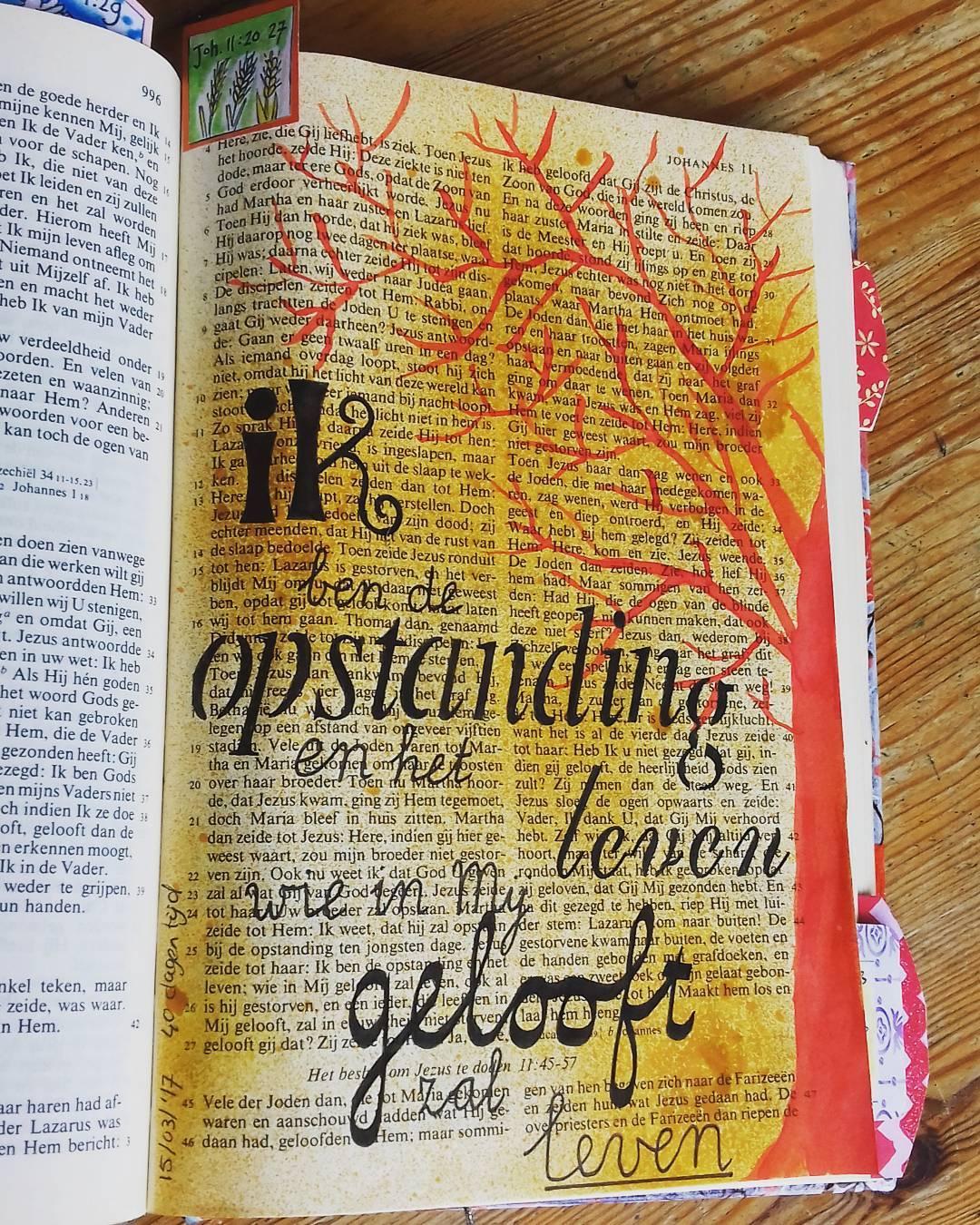 Bijbeljournaling door Ellen Johannes 11:20-27
