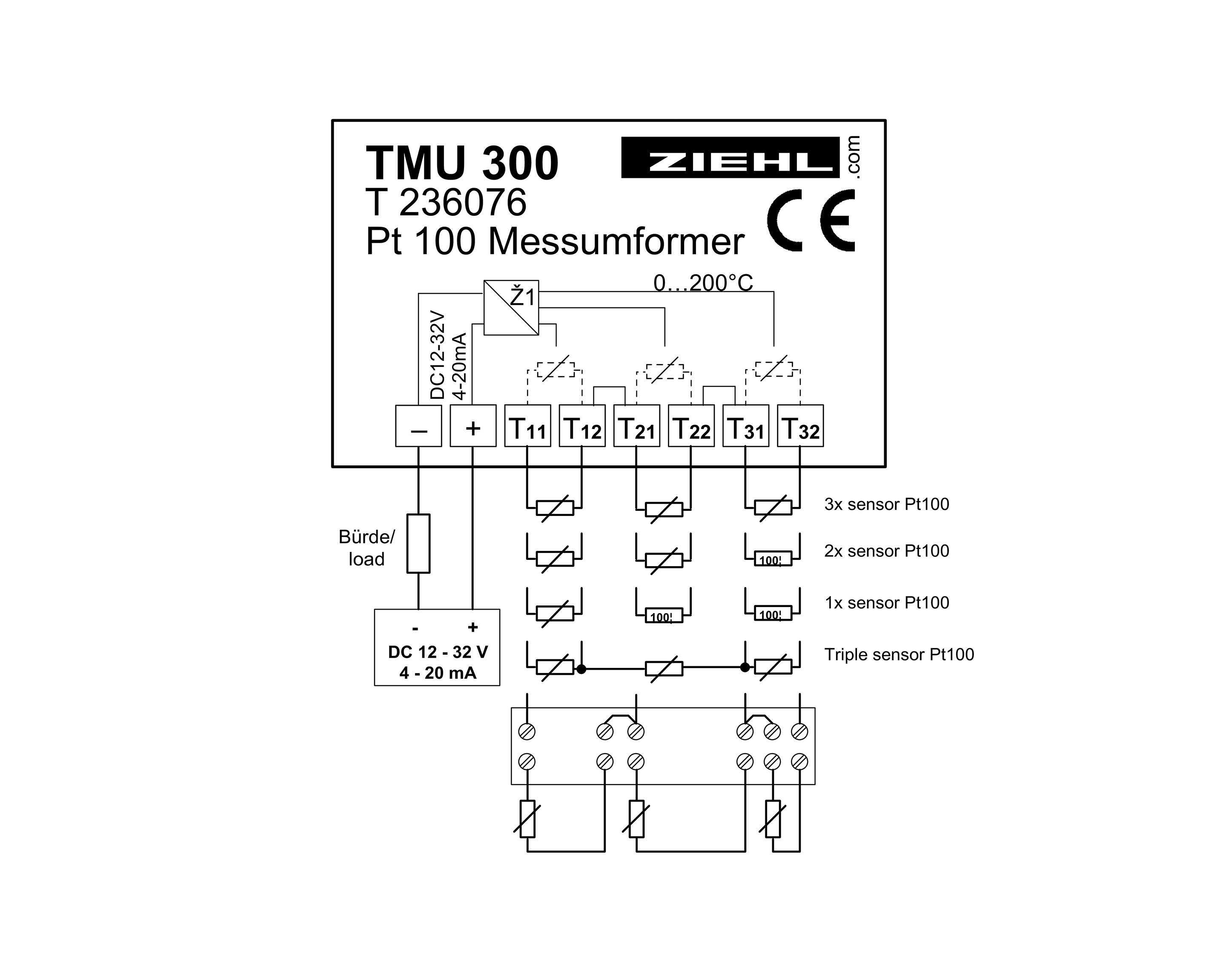 Measuring Transducer For Motor Protection Tmu300 For 3 X