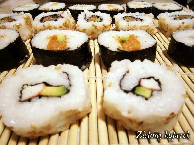 Moje pierwsze sushi - uramaki i futomaki