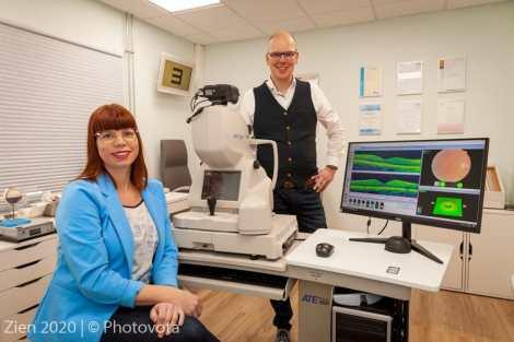 OCT Scan bij ZIEN Optiek en Optometrie Putten