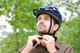 Man-in-bicycle-helmet