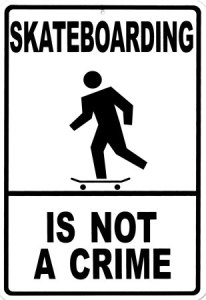 skateboarding is not a crime 206x300 - Hit & Run Driver Who Hit Elmira Skateboarder Found!