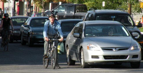 bicycle commuters2 - For Your Safety, Bike Like You Are Driving A Car, Says NY Bike Accident Lawyer