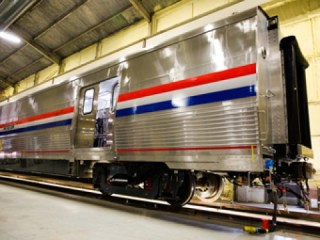 CAF USA is producing bike-friendly baggage cars for Amtrak in Elmira Heights/