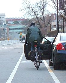 220px Door zone open - Here Is A Summary Of Bike Laws In New York State And NYC To Keep Riders And Motorists Safe!
