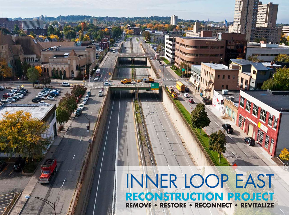 overhead existing conditions - NY Bike Accident Lawyer Applauds City Of Rochester For Inner Loop Project