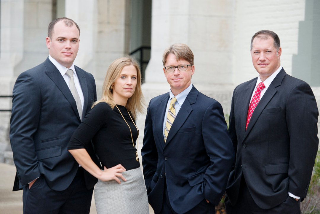 Ziff Law attorneys, from left, Mike Brown, Christina Sonsire, Jim Reed, and Adam Gee.