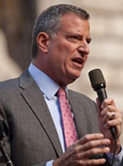 NYC Mayor Bill di Blasio.