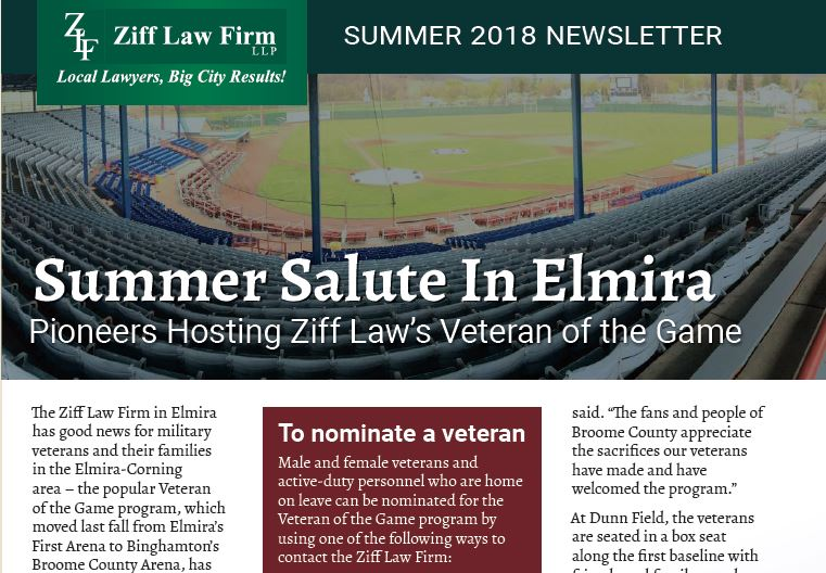 Capture - Legal News You Can Use: Check Out Ziff Law's New Summer 2018 Newsletter
