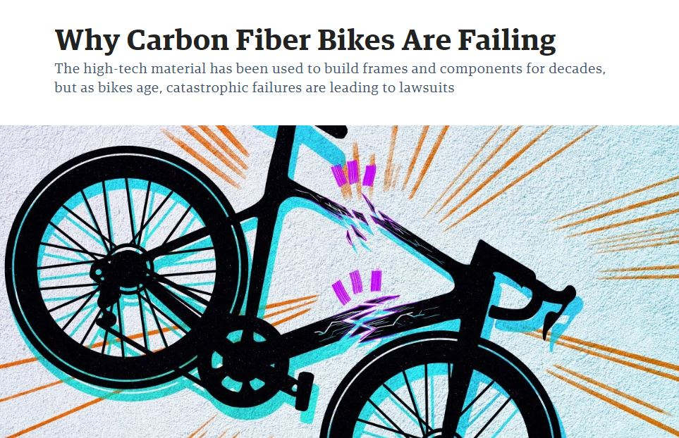 story cover - Carbon Fiber Bikes and Components:  Great or a ticking time bomb?