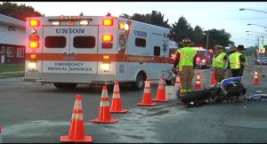 WBNG TV - Intersection Collision Kills Motorcyclist in Broome County, NY - Cause Under Investigation