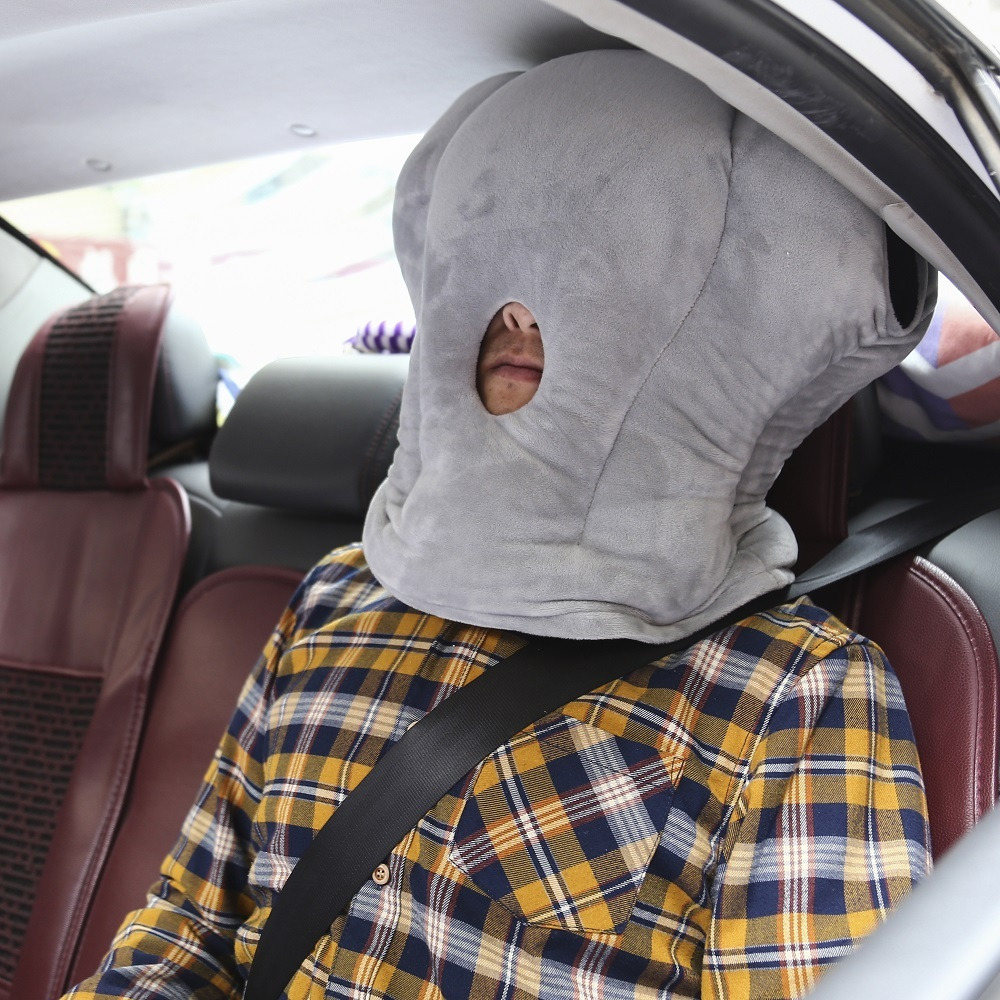 novel portable flexible ostrich shaped pillow travel pillow enjoy a comfortable nap anytime and anywhere