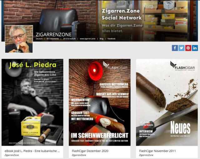 Onlinezeitschriften Zigarren.Zone Social Network
