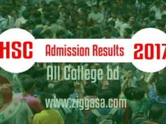 HSC Admission Results 2017