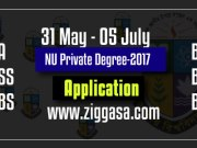 NU Private Degree Registration Circular