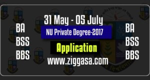 NU Private Degree Registration Circular