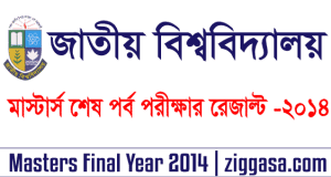 NU Masters Final Year Exam Result 2014