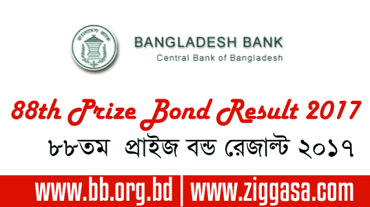 BB 88th Prize Bond Draw Result July 2017