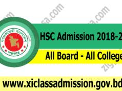 HSC (XI) Admission Circular 2018