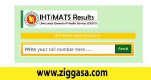 IHT MATS Admission Test Result 2018
